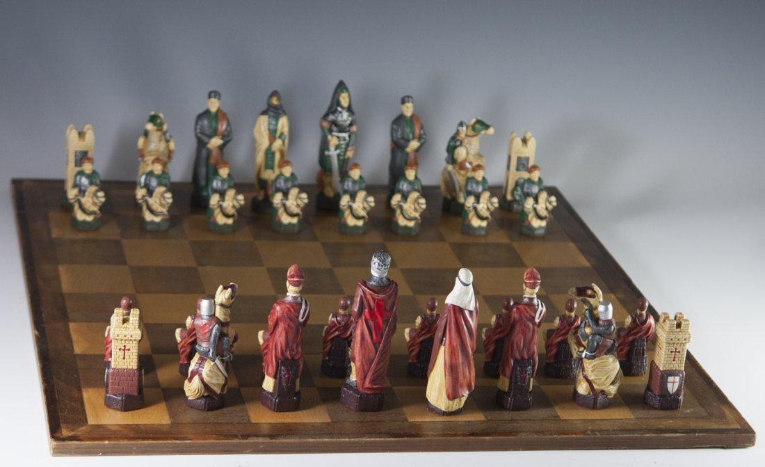 "Studio Anne Carlton ""The Crusades"" Chess Set"