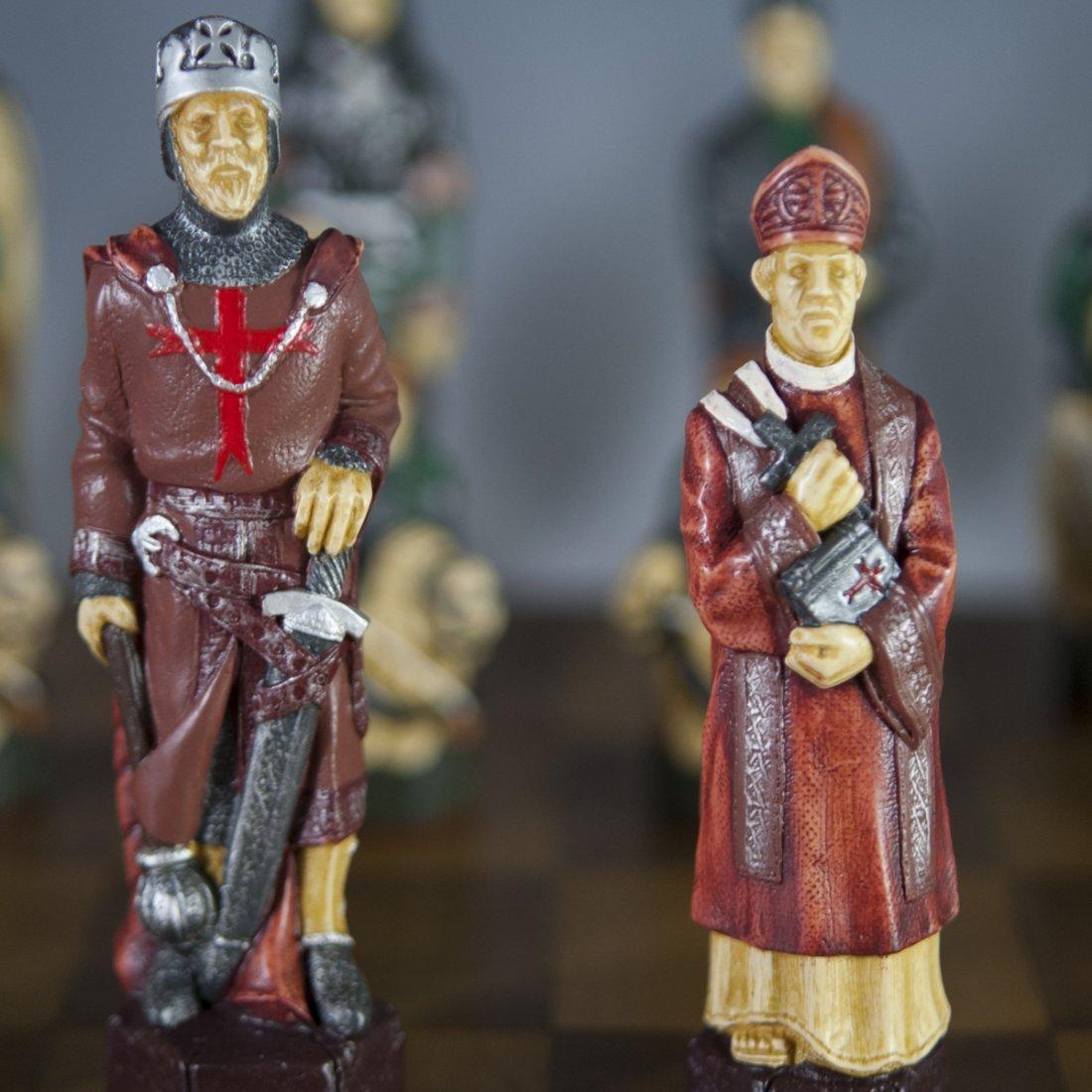 "Studio Anne Carlton ""The Crusades"" Chess Set - 7"