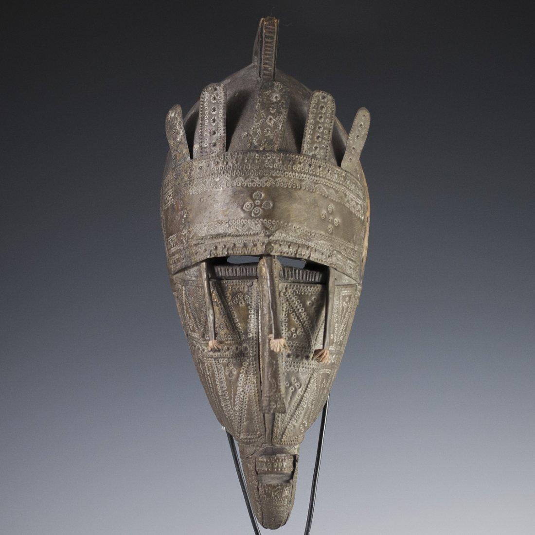 African Marka Brass Wooden Mask