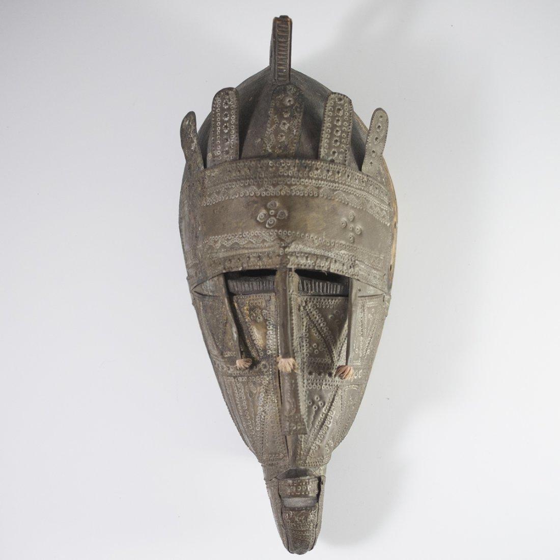 African Marka Brass Wooden Mask - 2