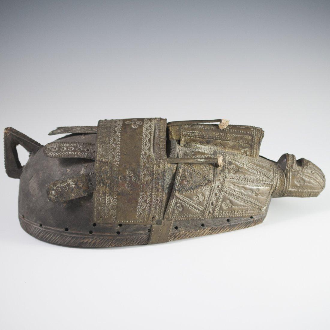 African Marka Brass Wooden Mask - 4