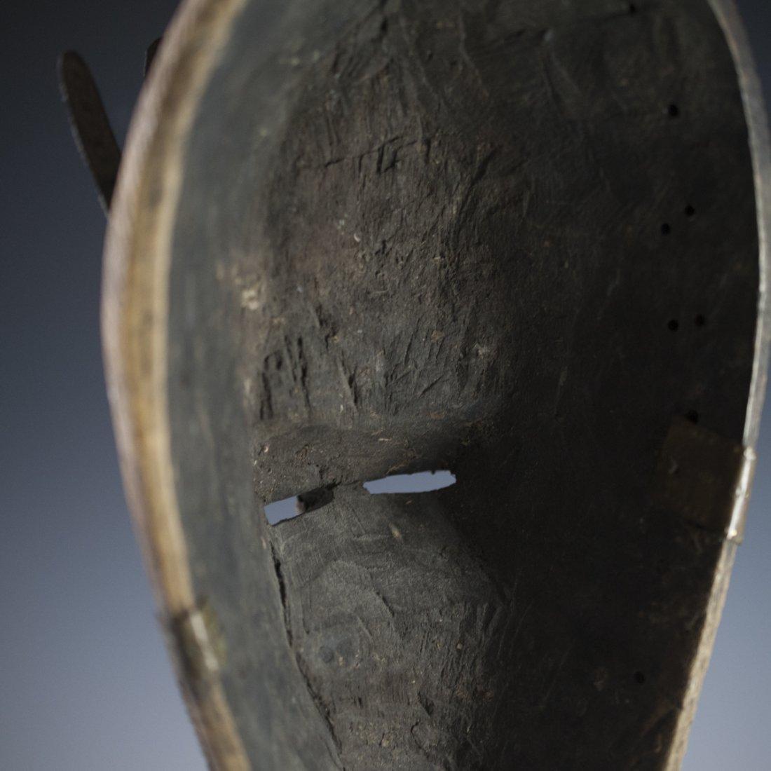 African Marka Brass Wooden Mask - 5