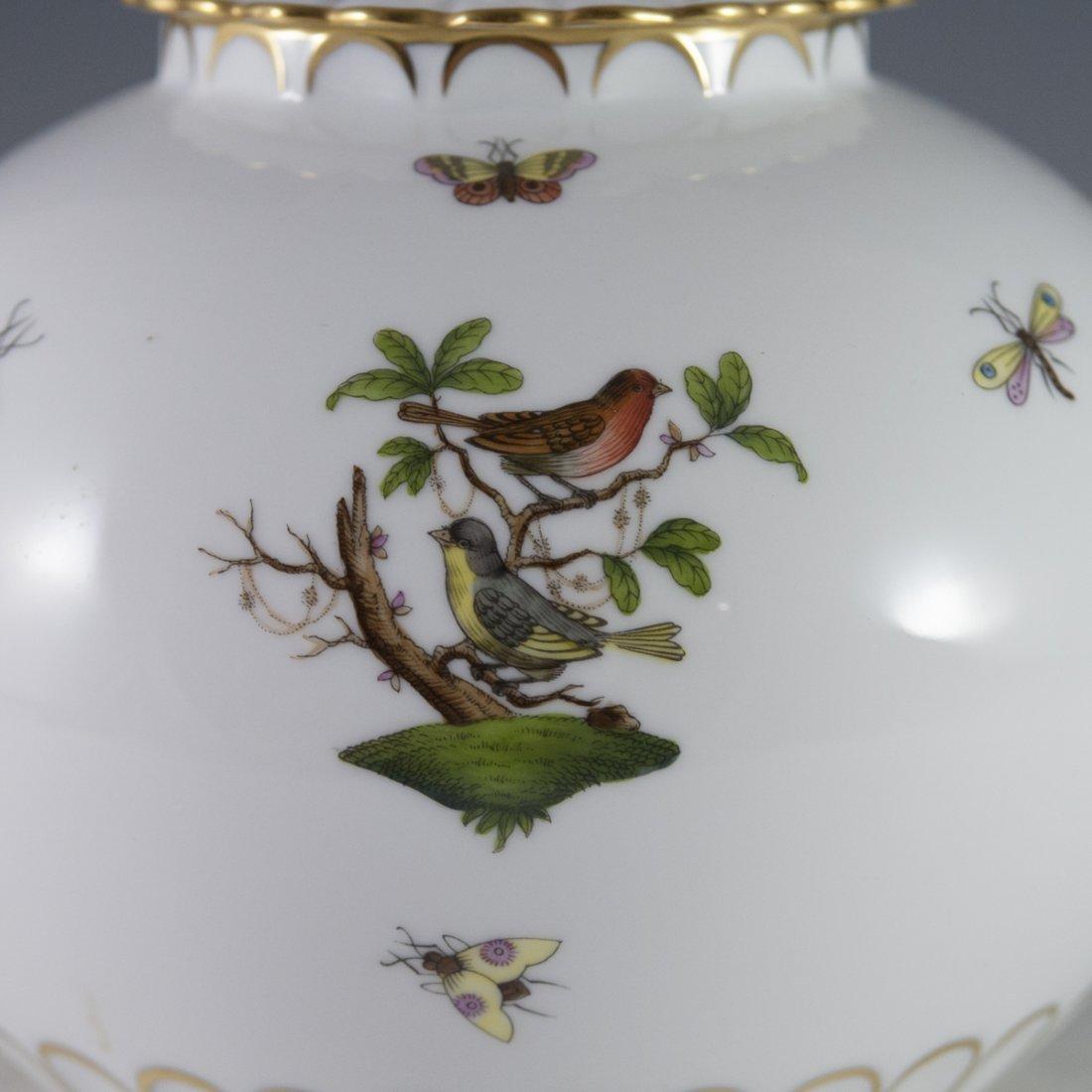 """Herend """"Chinese Bouquet"""" Rothschild Bird Porcelain Jar - 5"""