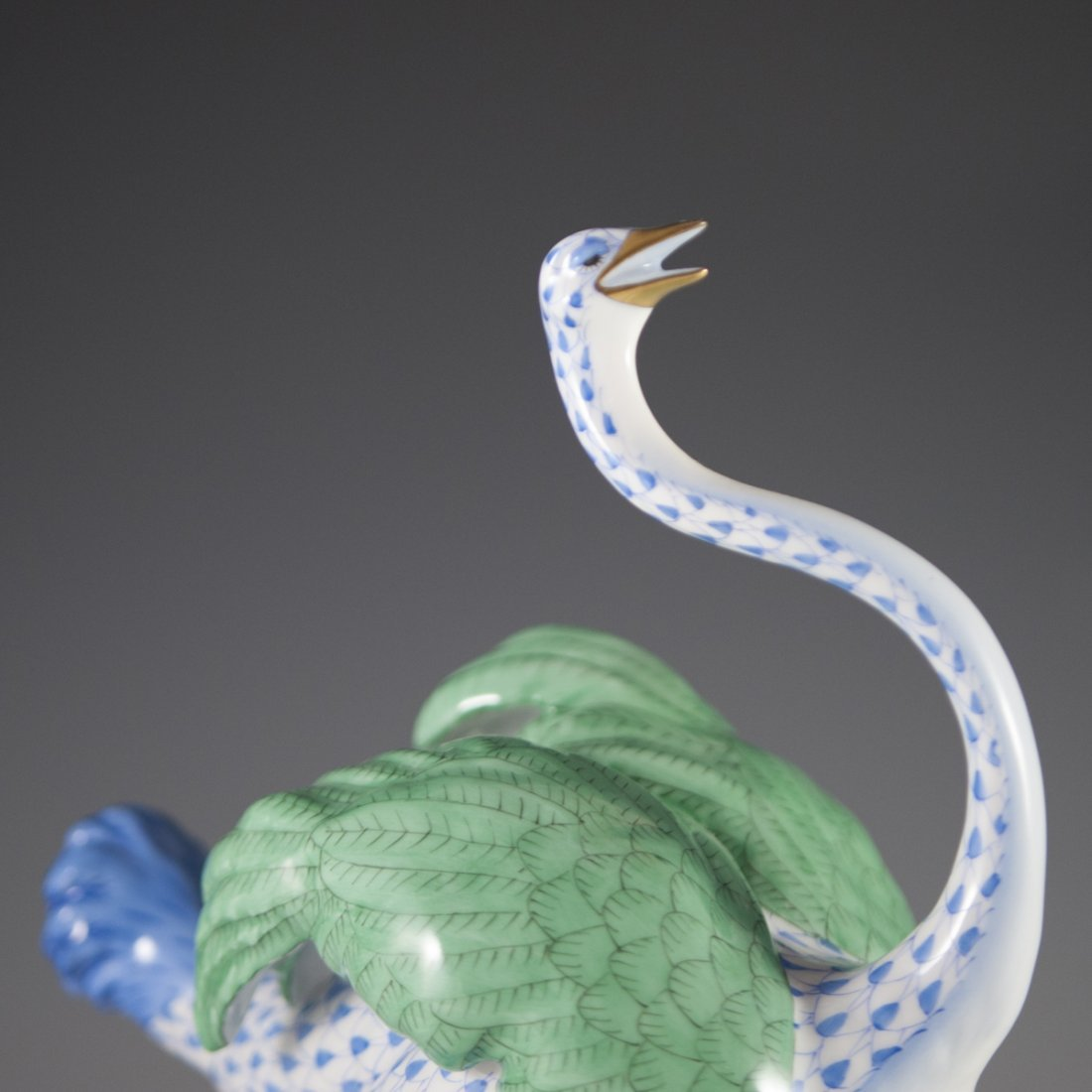 "Herend Fishnet ""First Edition"" Porcelain Ostrich - 2"