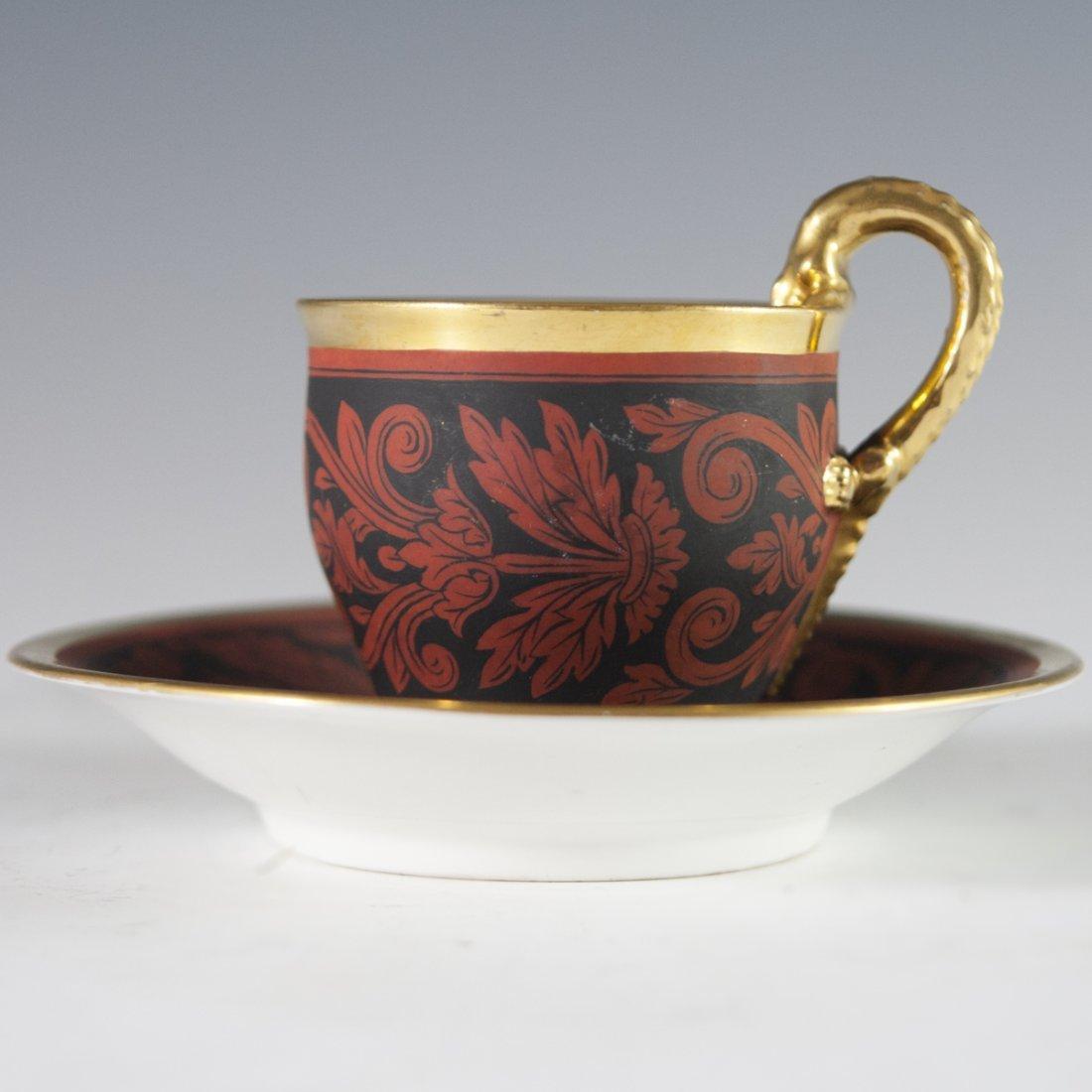 Antique KPM Porcelain Demitasse & Saucer