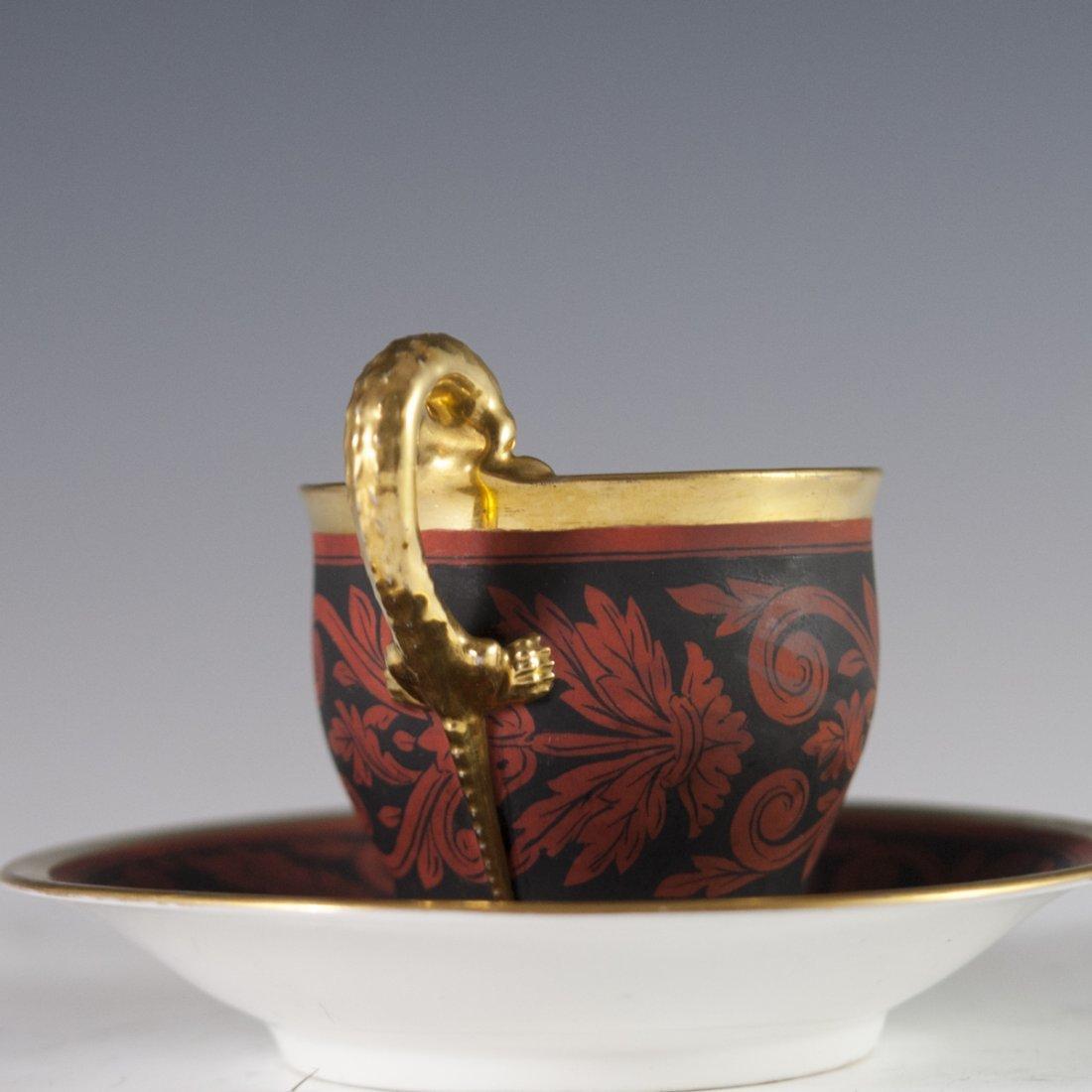 Antique KPM Porcelain Demitasse & Saucer - 4