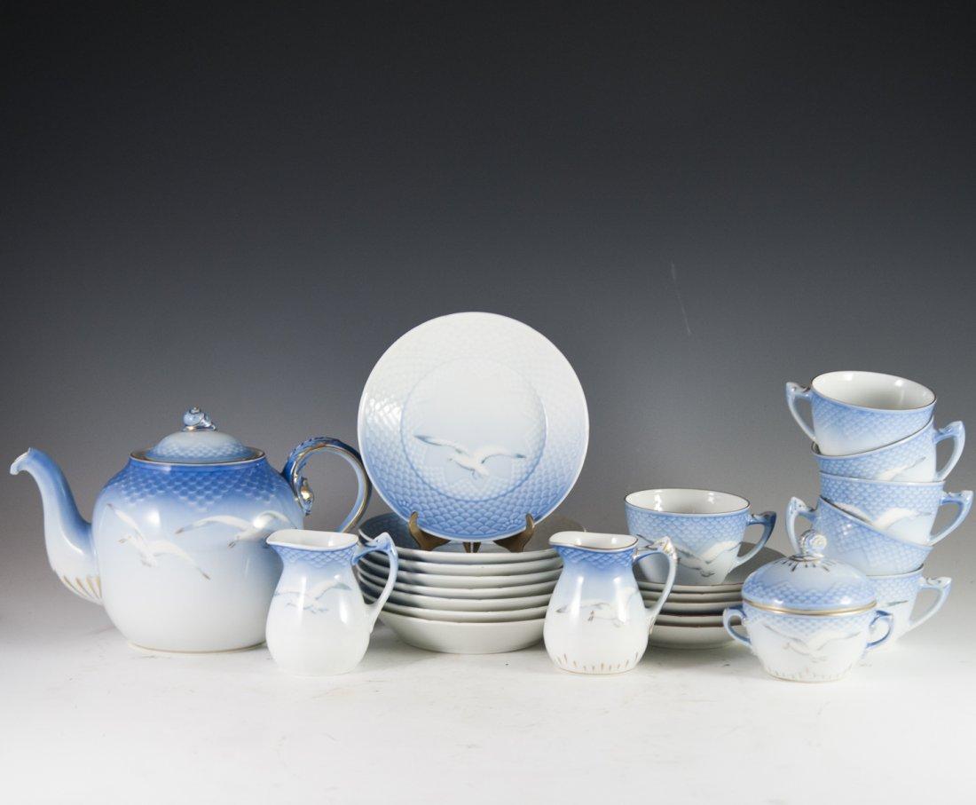 "Bing & Grondahl ""Seagull"" Pattern Porcelain Tea Set"