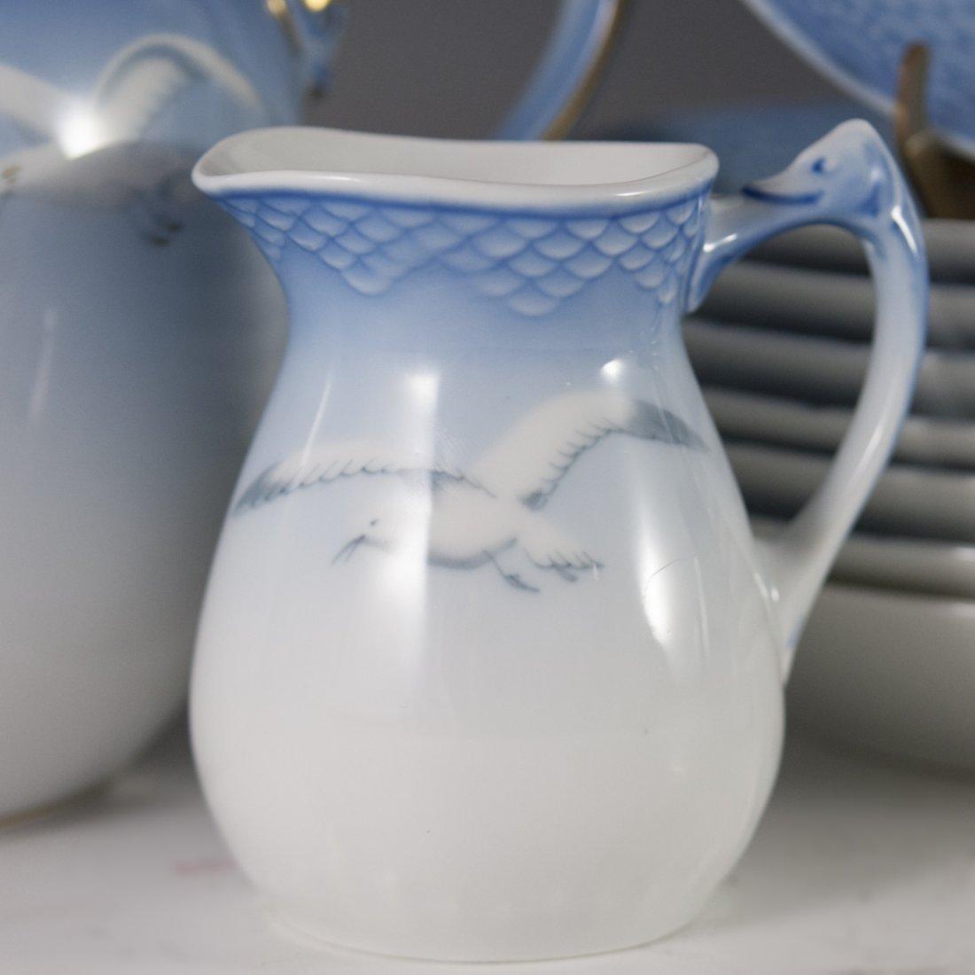 "Bing & Grondahl ""Seagull"" Pattern Porcelain Tea Set - 4"