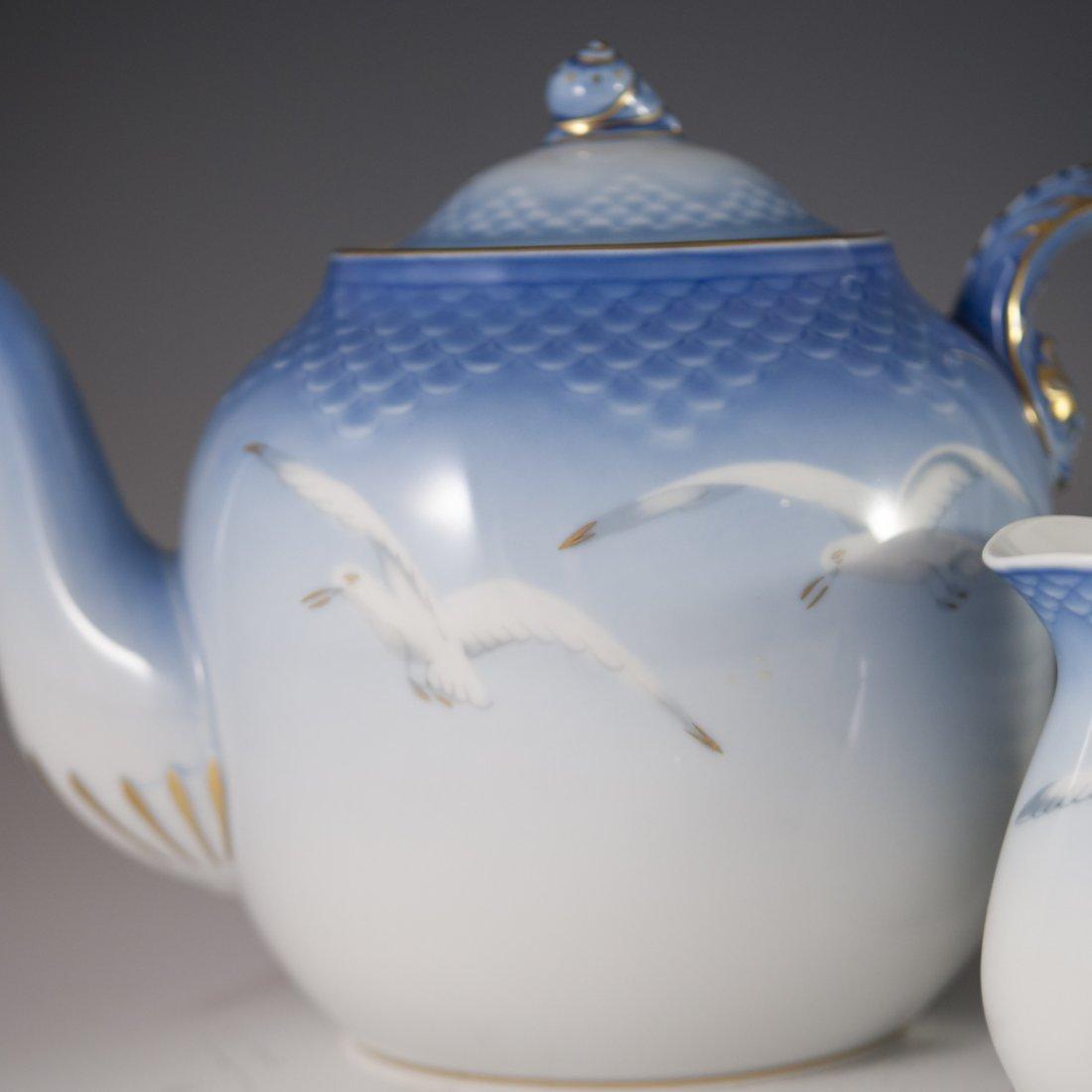 "Bing & Grondahl ""Seagull"" Pattern Porcelain Tea Set - 5"