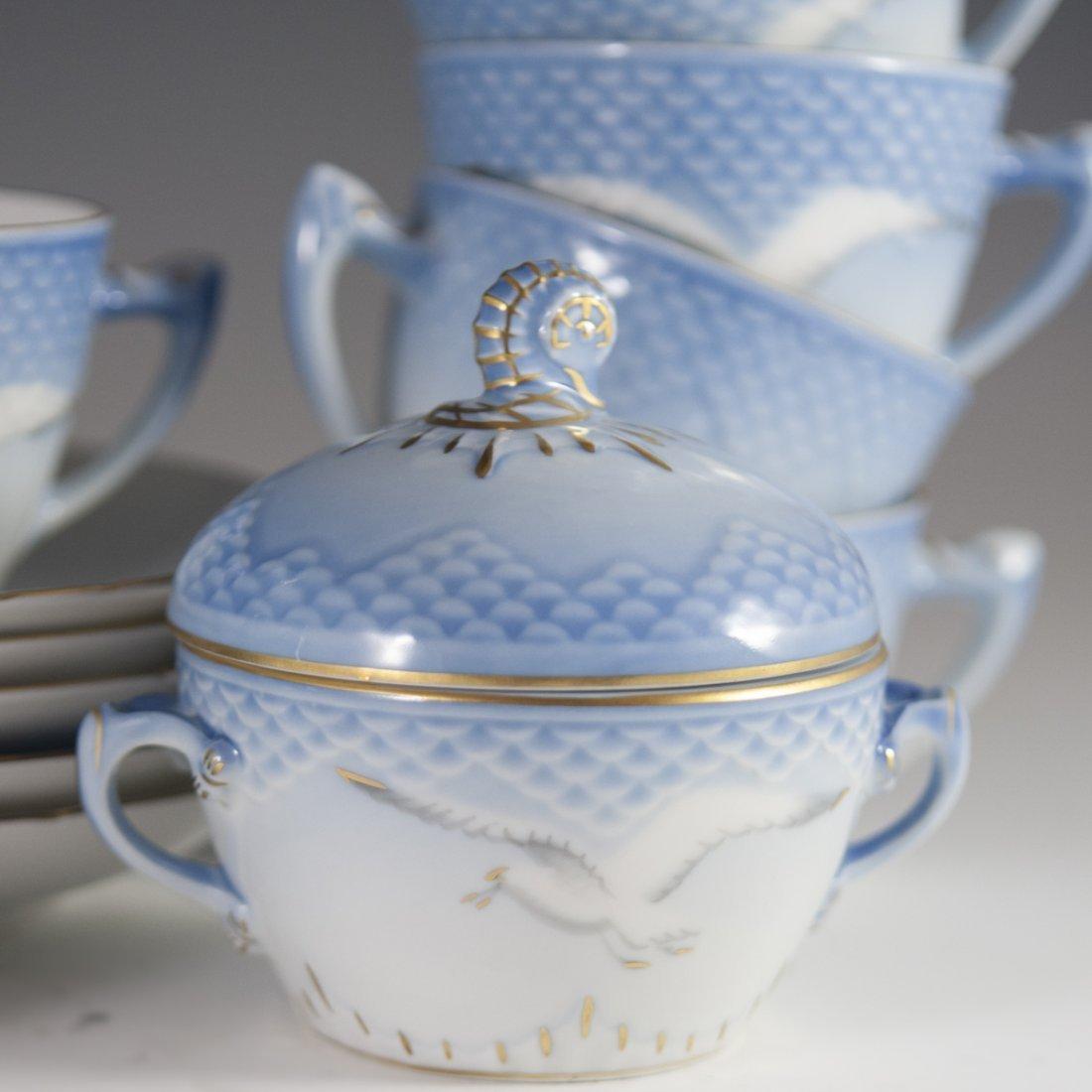 "Bing & Grondahl ""Seagull"" Pattern Porcelain Tea Set - 6"