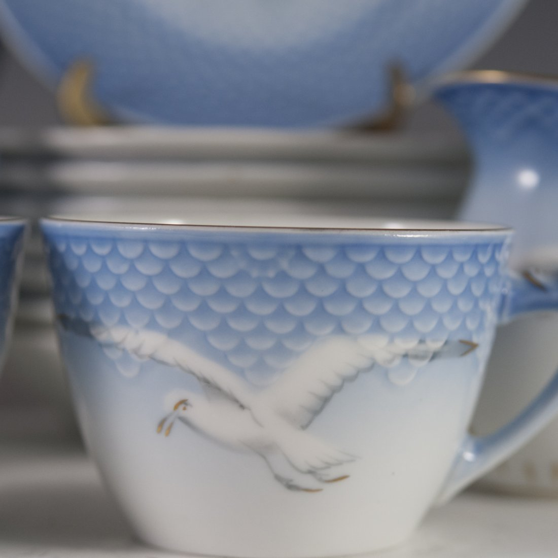 "Bing & Grondahl ""Seagull"" Pattern Porcelain Tea Set - 7"