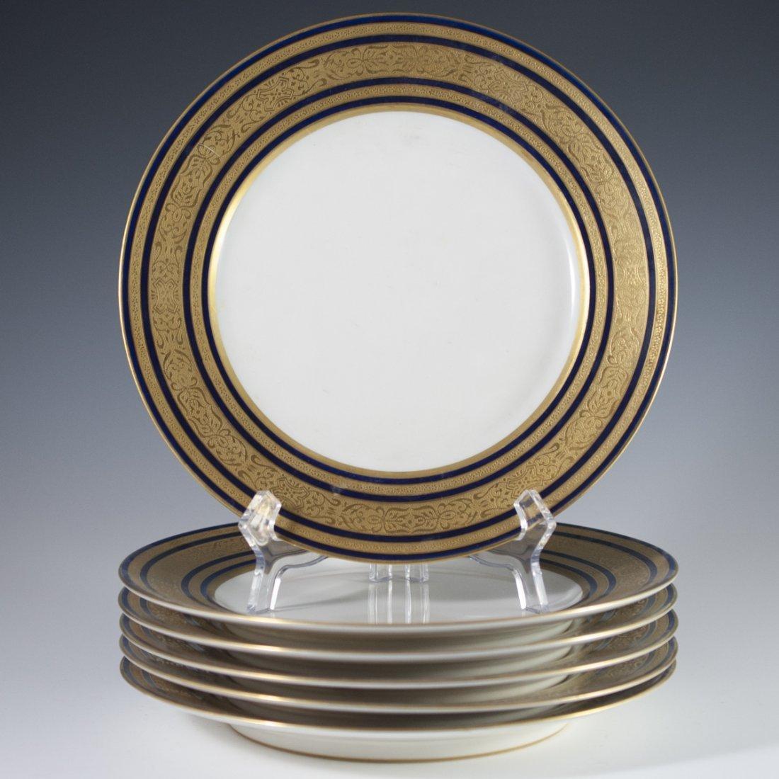 Charles Ahrenfeldt Limoges Cobalt Plates