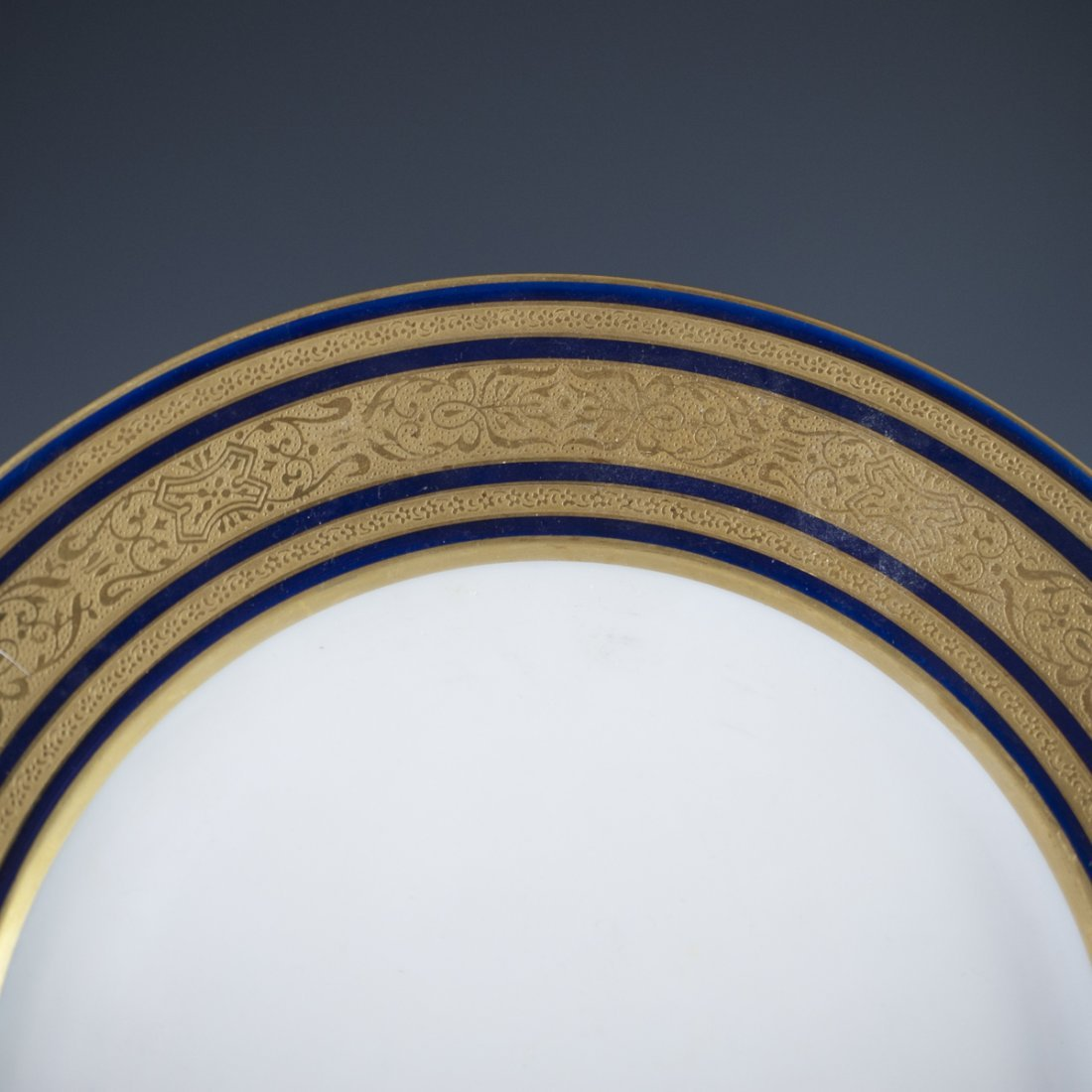 Charles Ahrenfeldt Limoges Cobalt Plates - 2