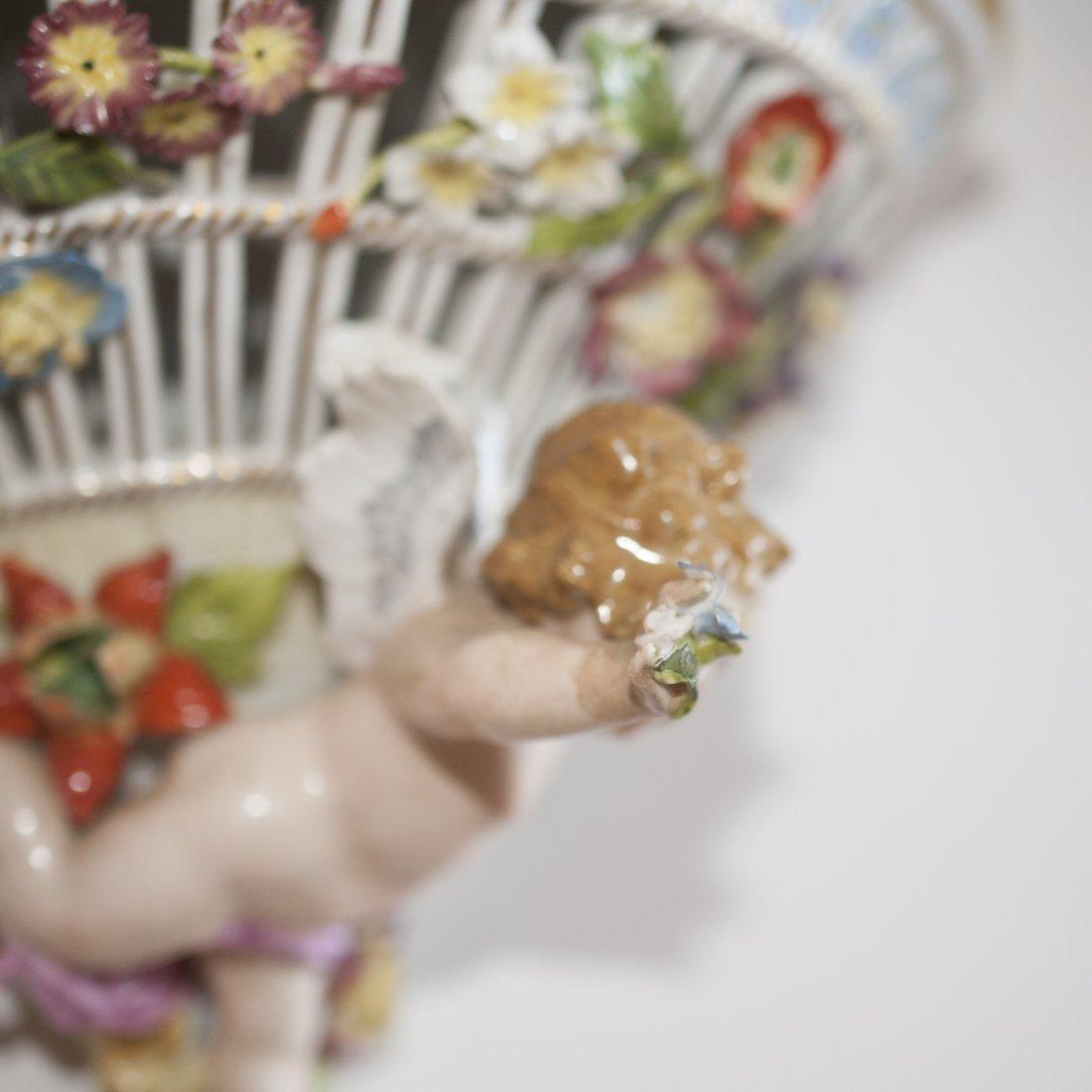 Pair of Meissen Porcelain Sconces - 4