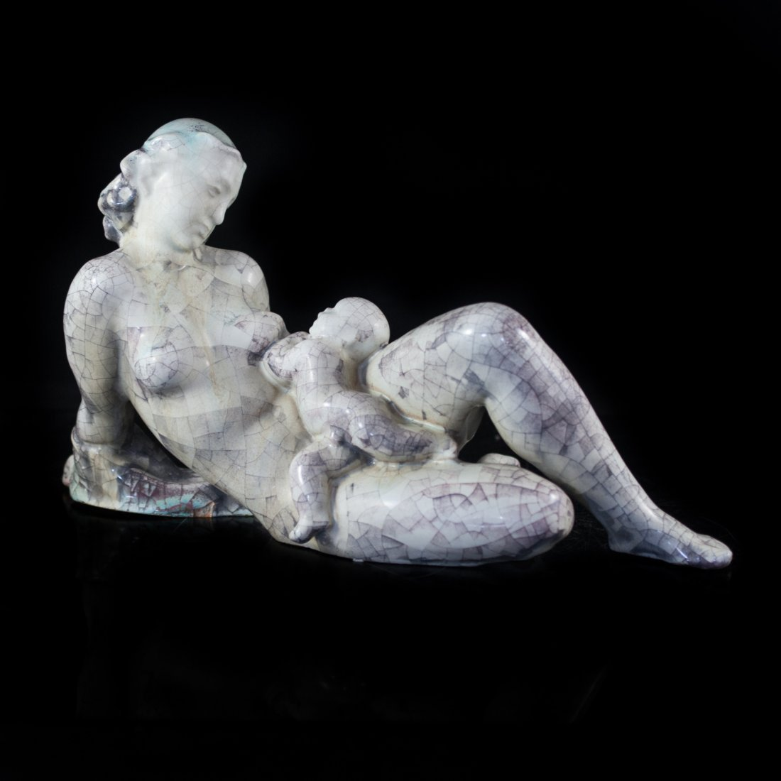 Mother & Child Ceramic Sculpture