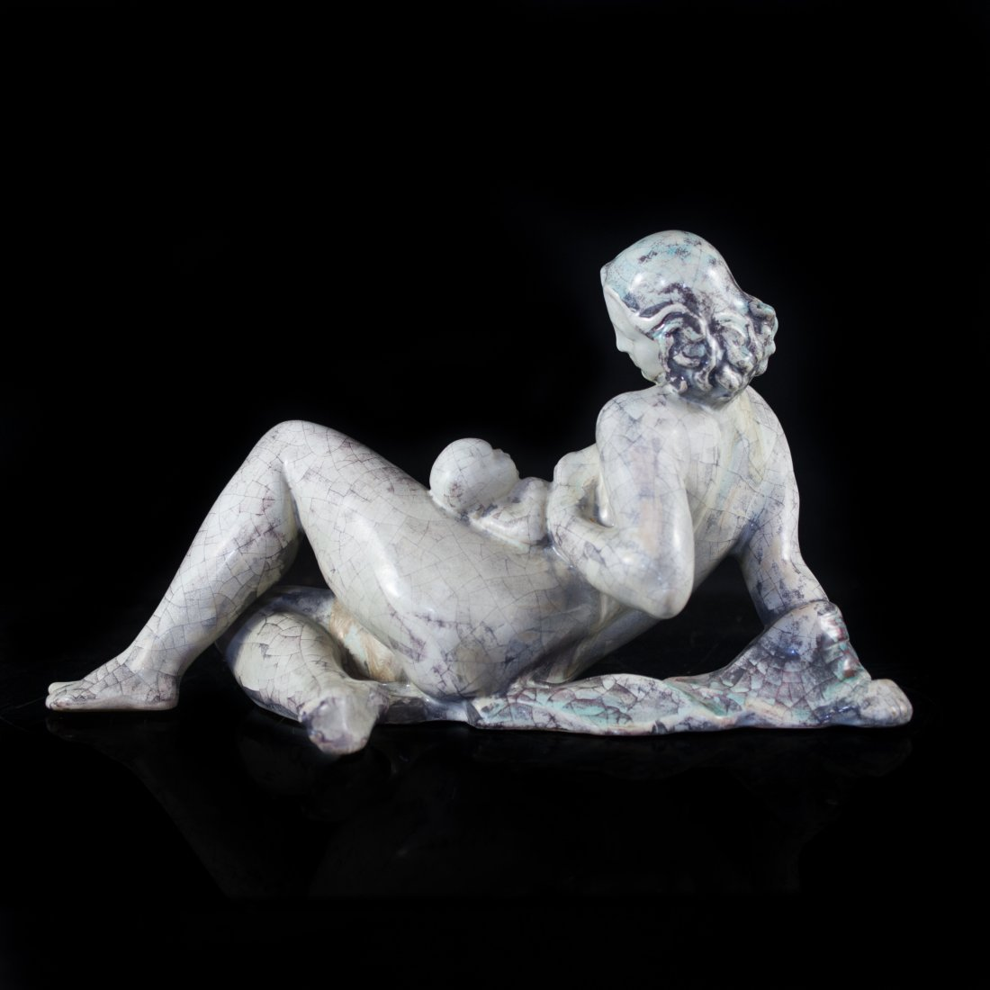 Mother & Child Ceramic Sculpture - 2