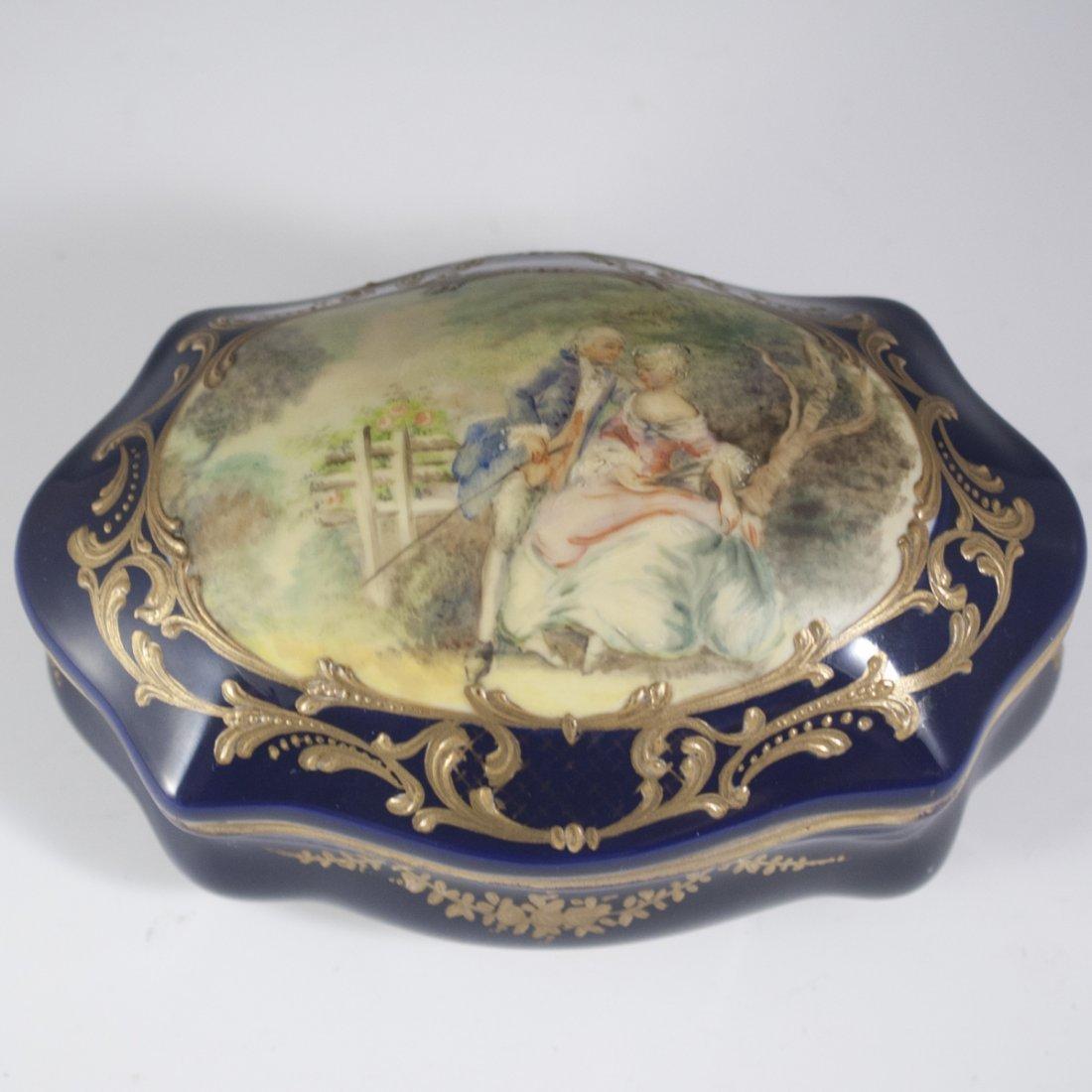 Antique Sevres Porcelain Trinket Box