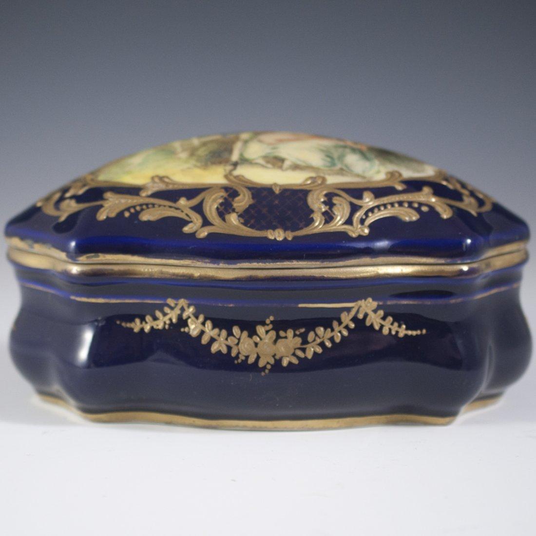 Antique Sevres Porcelain Trinket Box - 4
