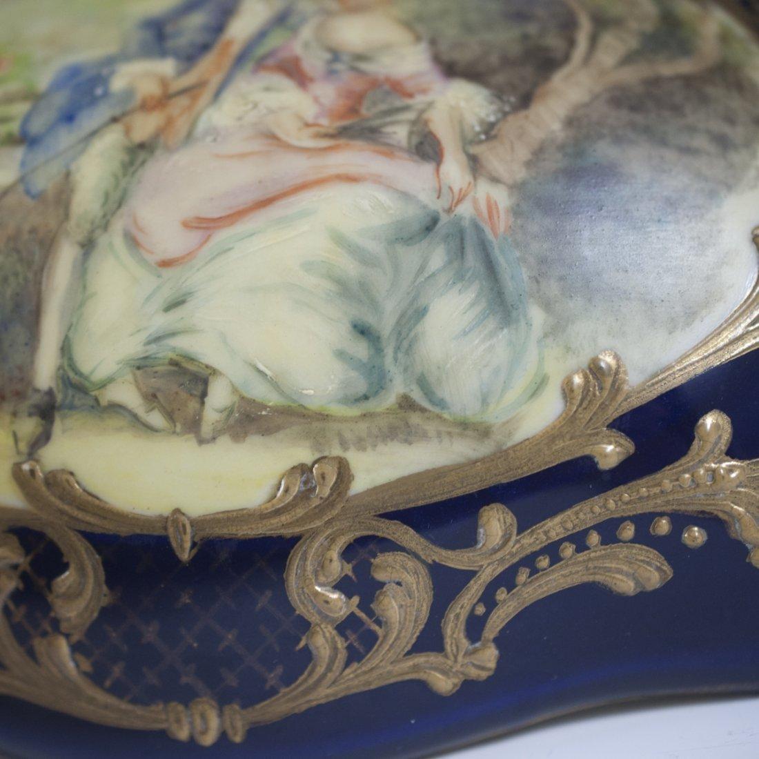 Antique Sevres Porcelain Trinket Box - 5