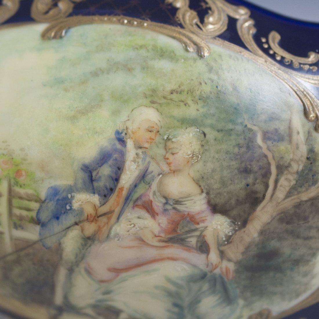 Antique Sevres Porcelain Trinket Box - 6