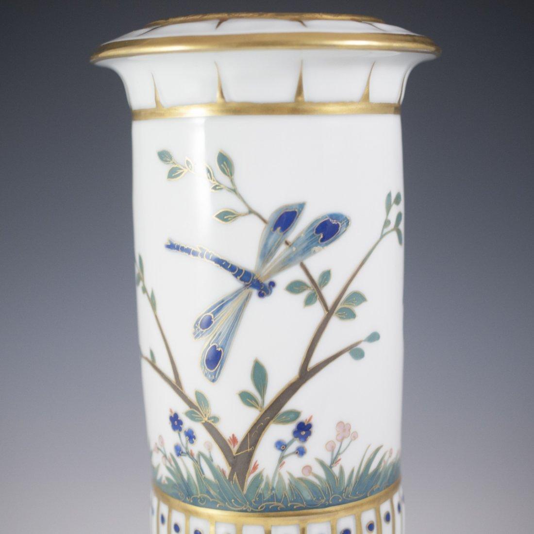 Saxe Porcelain & Enamel Lidded Urn - 6