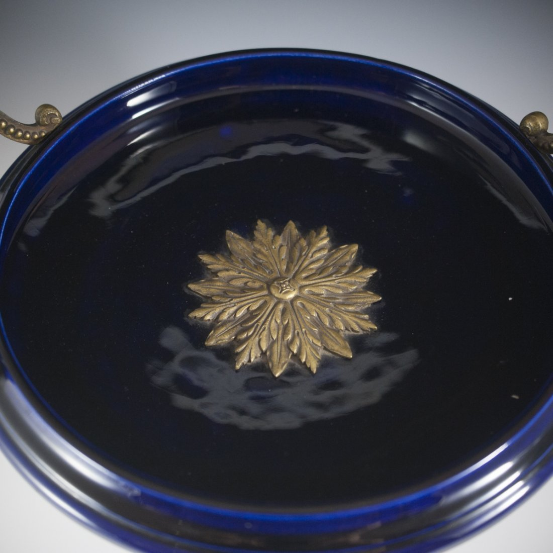 Antique Porcelain & Brass Compote - 2