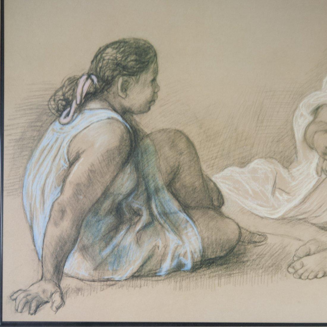 Francisco Zuniga (Mexican 1912-1998) Pastel on Paper - 4
