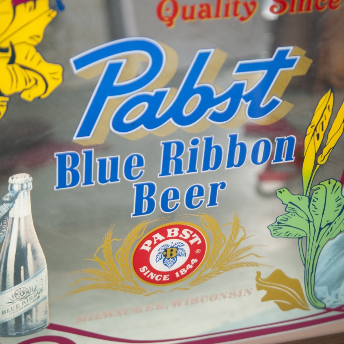 Antique Pabst Blue Ribbon Mirror - 2
