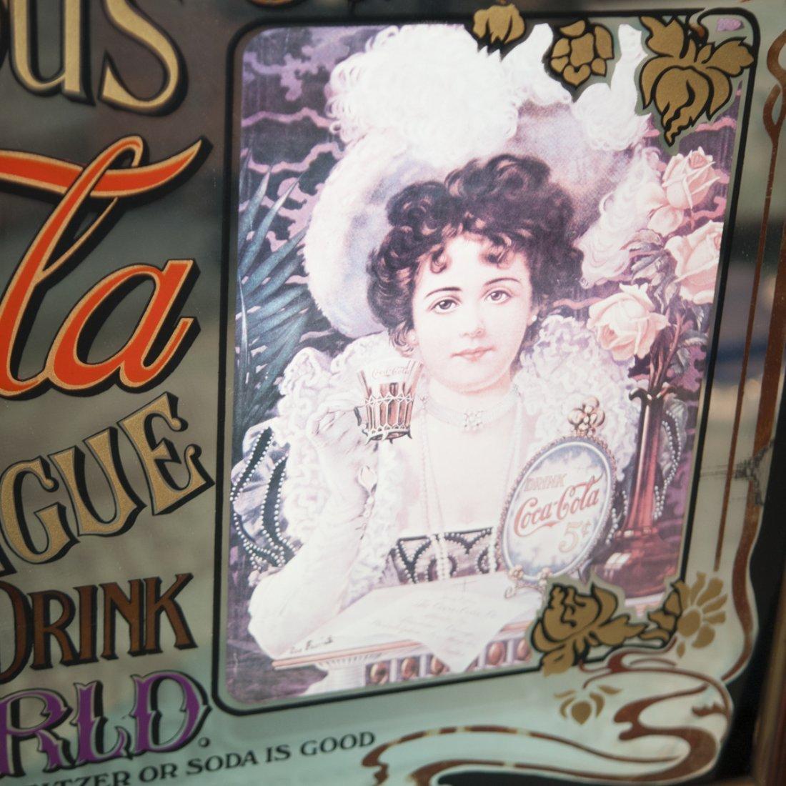 Antique Coca Cola Advertisement Mirror - 2