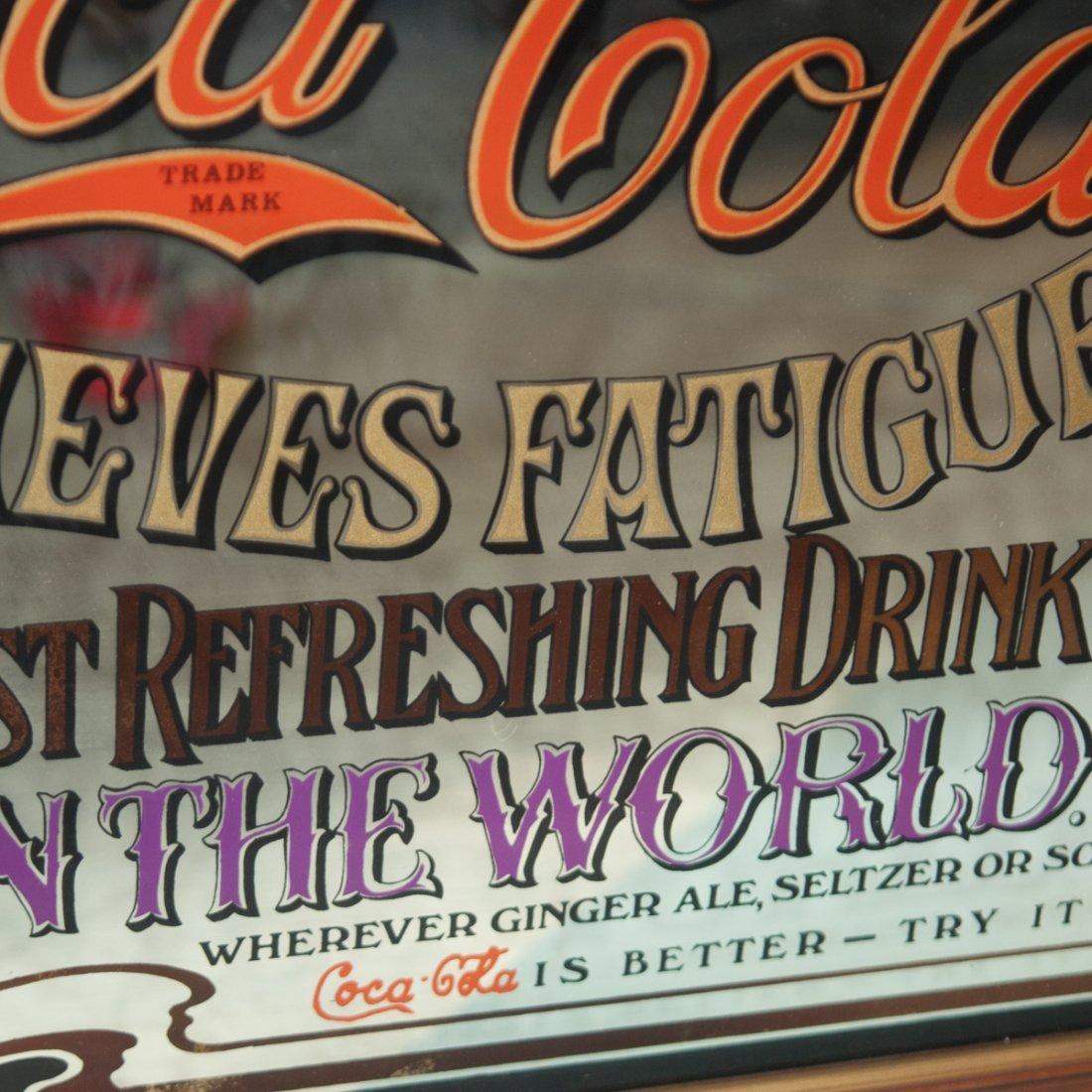 Antique Coca Cola Advertisement Mirror - 3