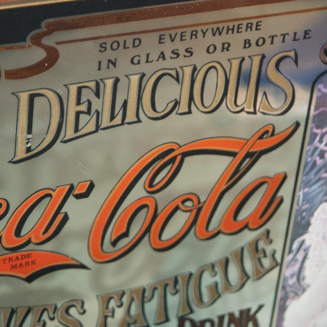 Antique Coca Cola Advertisement Mirror - 4