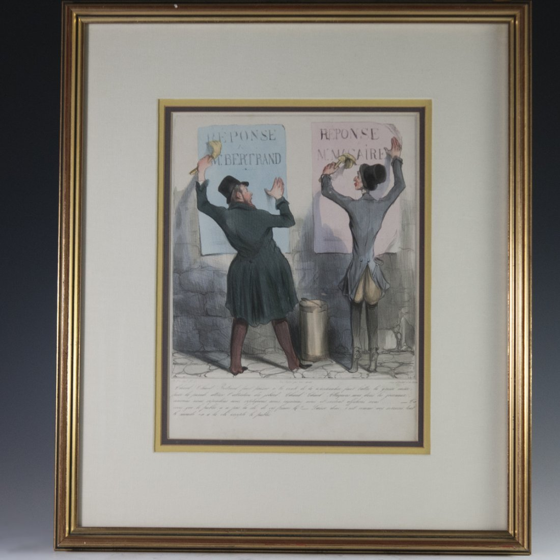 """Honore Daumier (French 1808-1879) """"Chaud! Chaud!"""""""