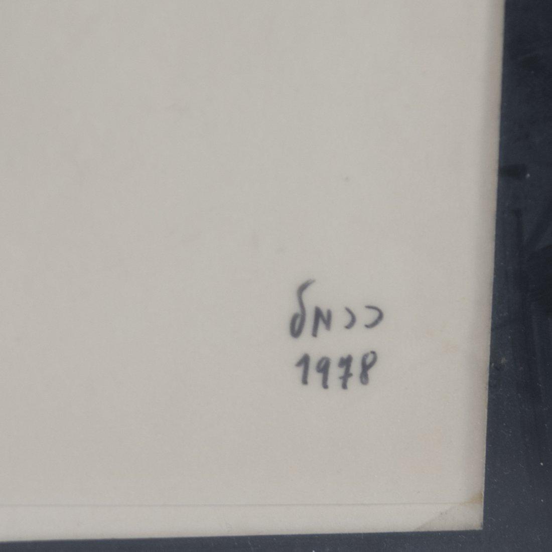 "Israeli Drawing Signed: ""Carmel"" - 3"