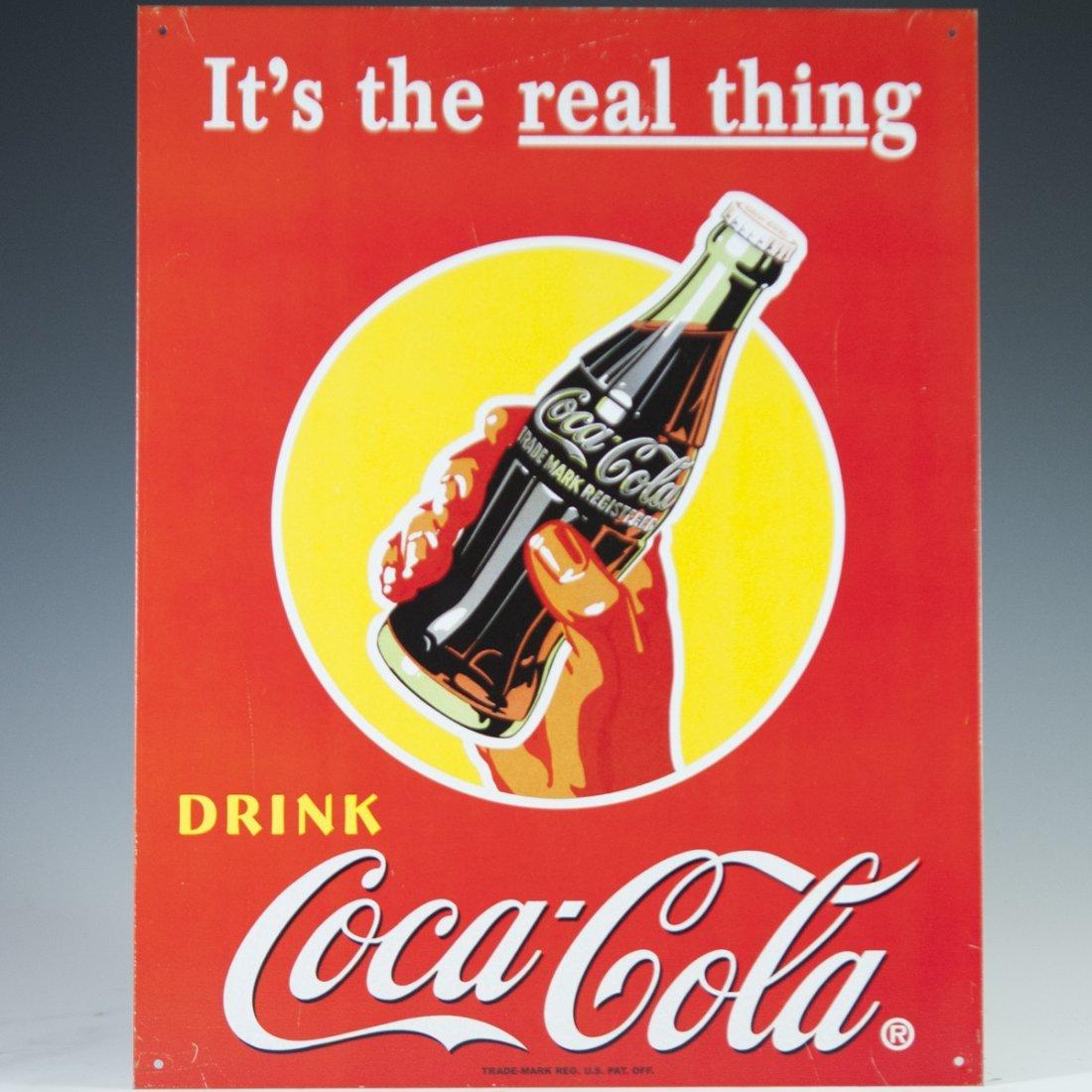 Coca Cola Aluminum Sign