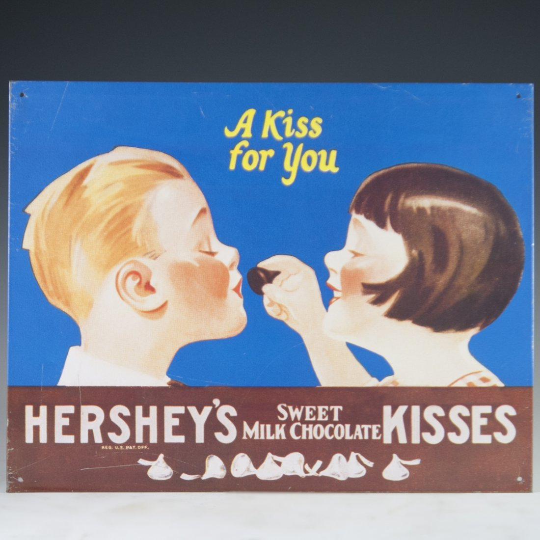 Hershey's Chocolate Aluminum Sign