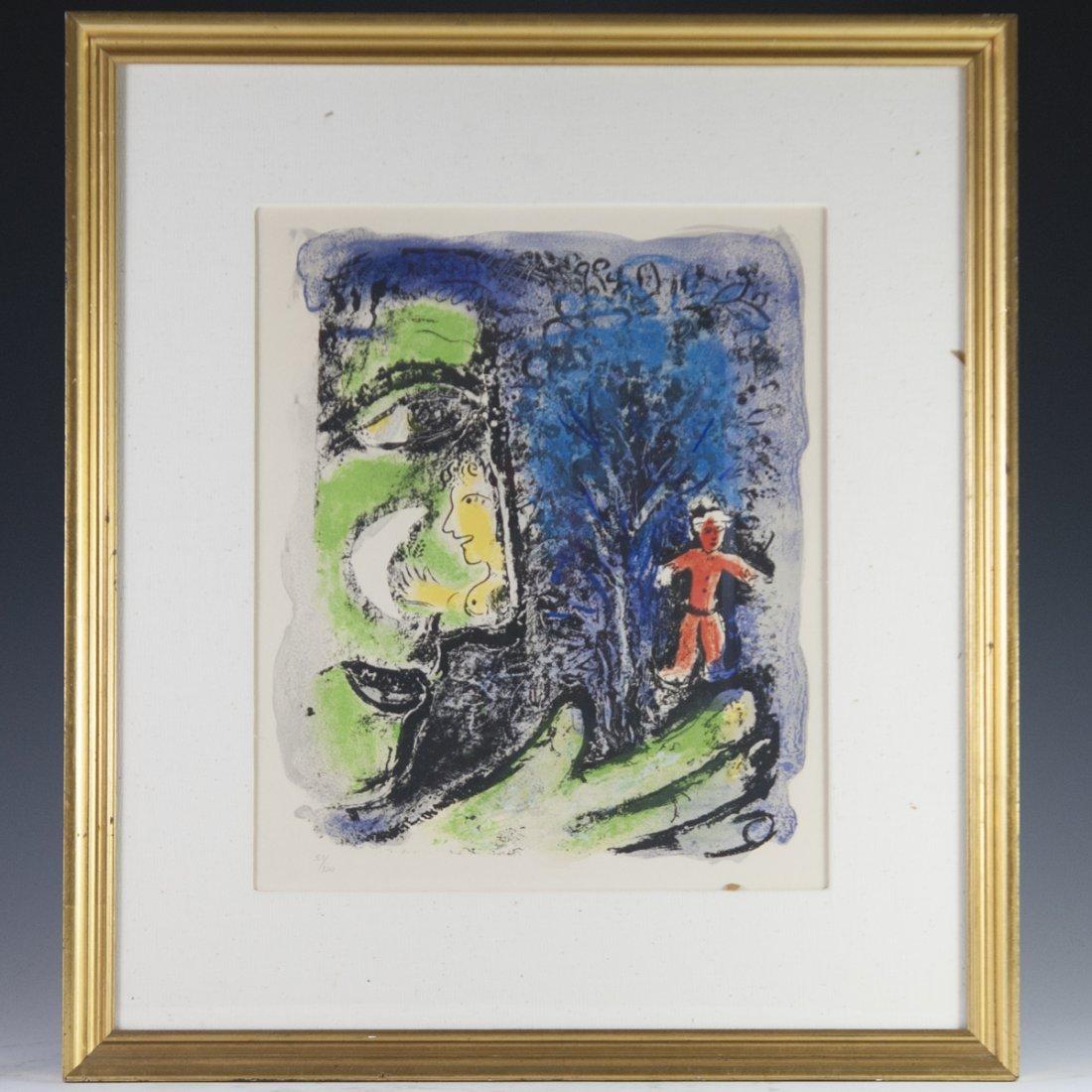 """Marc Chagall (Russian 1887-1985) """"Le Profil et L'enfant"""