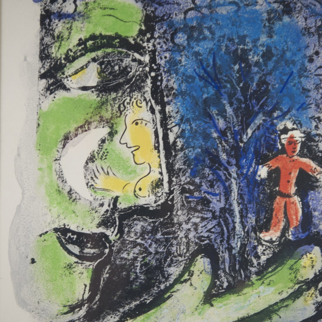 """Marc Chagall (Russian 1887-1985) """"Le Profil et L'enfant - 2"""