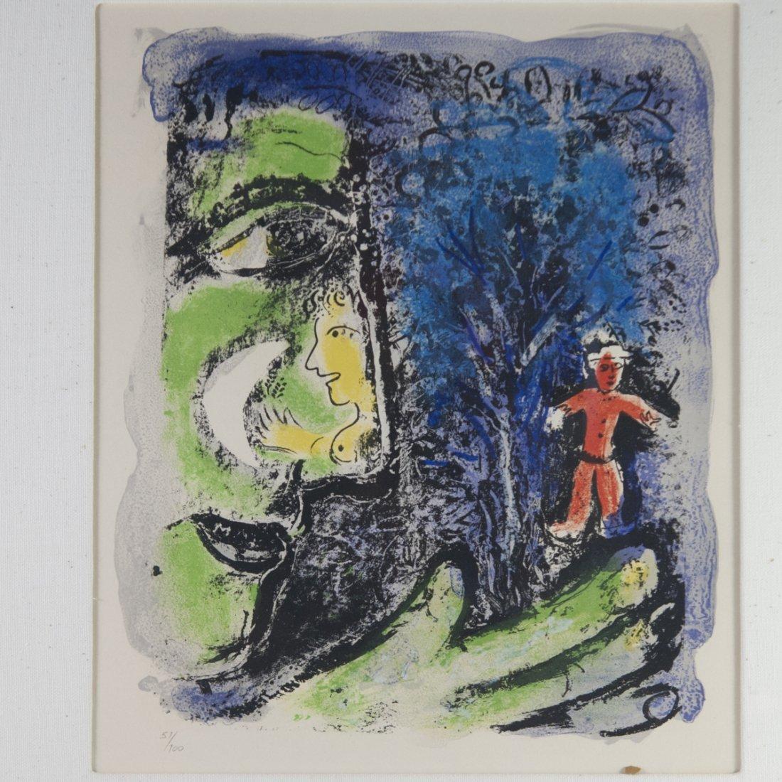 """Marc Chagall (Russian 1887-1985) """"Le Profil et L'enfant - 4"""