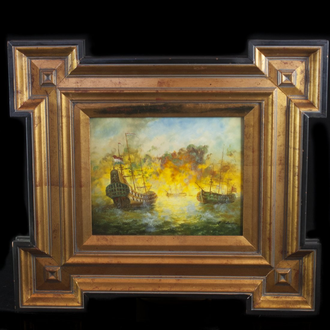 Signed Dutch Oil on Panel Painting