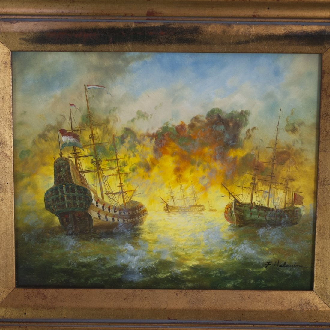 Signed Dutch Oil on Panel Painting - 2