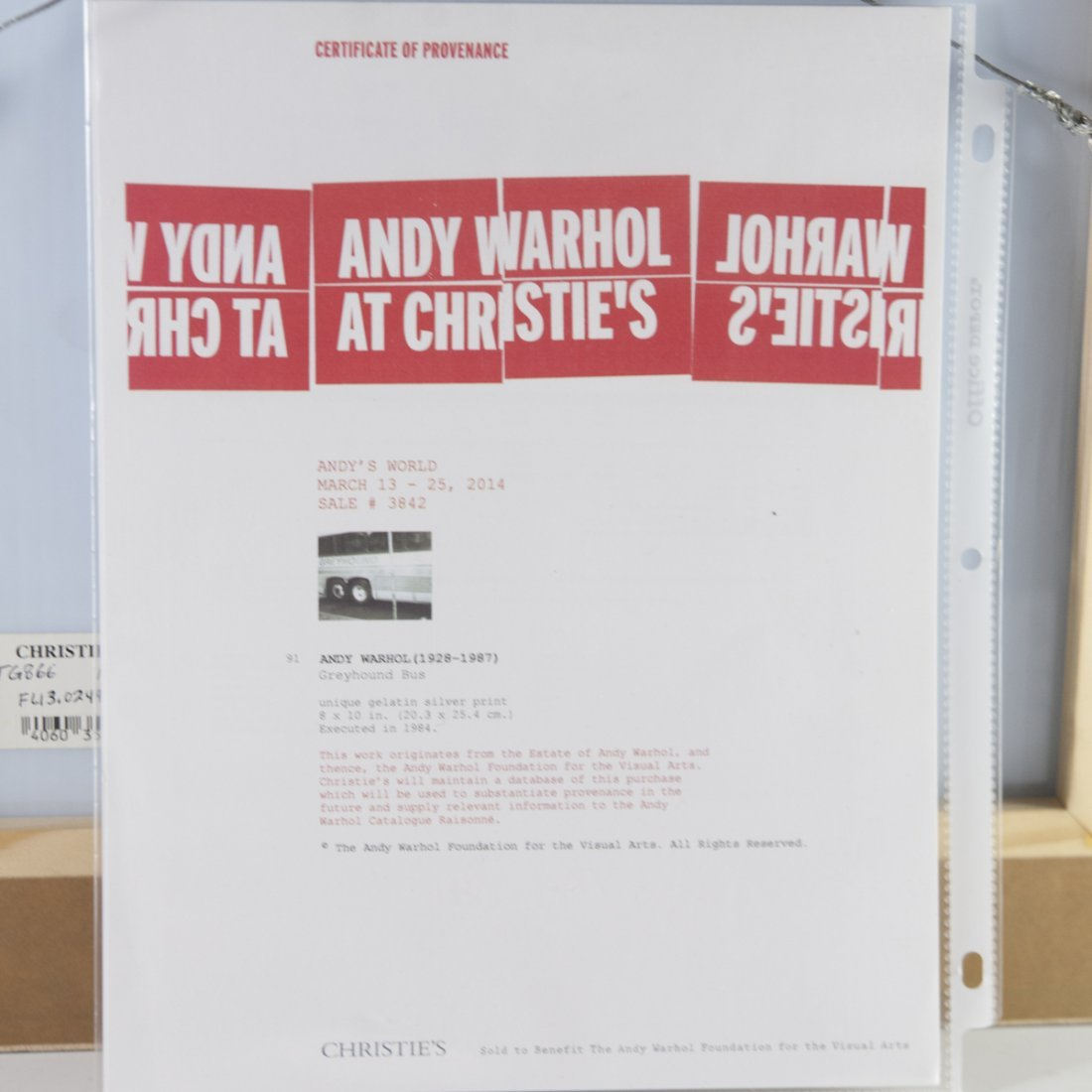 """Andy Warhol Polaroid """"Greyhound Bus"""" - 3"""