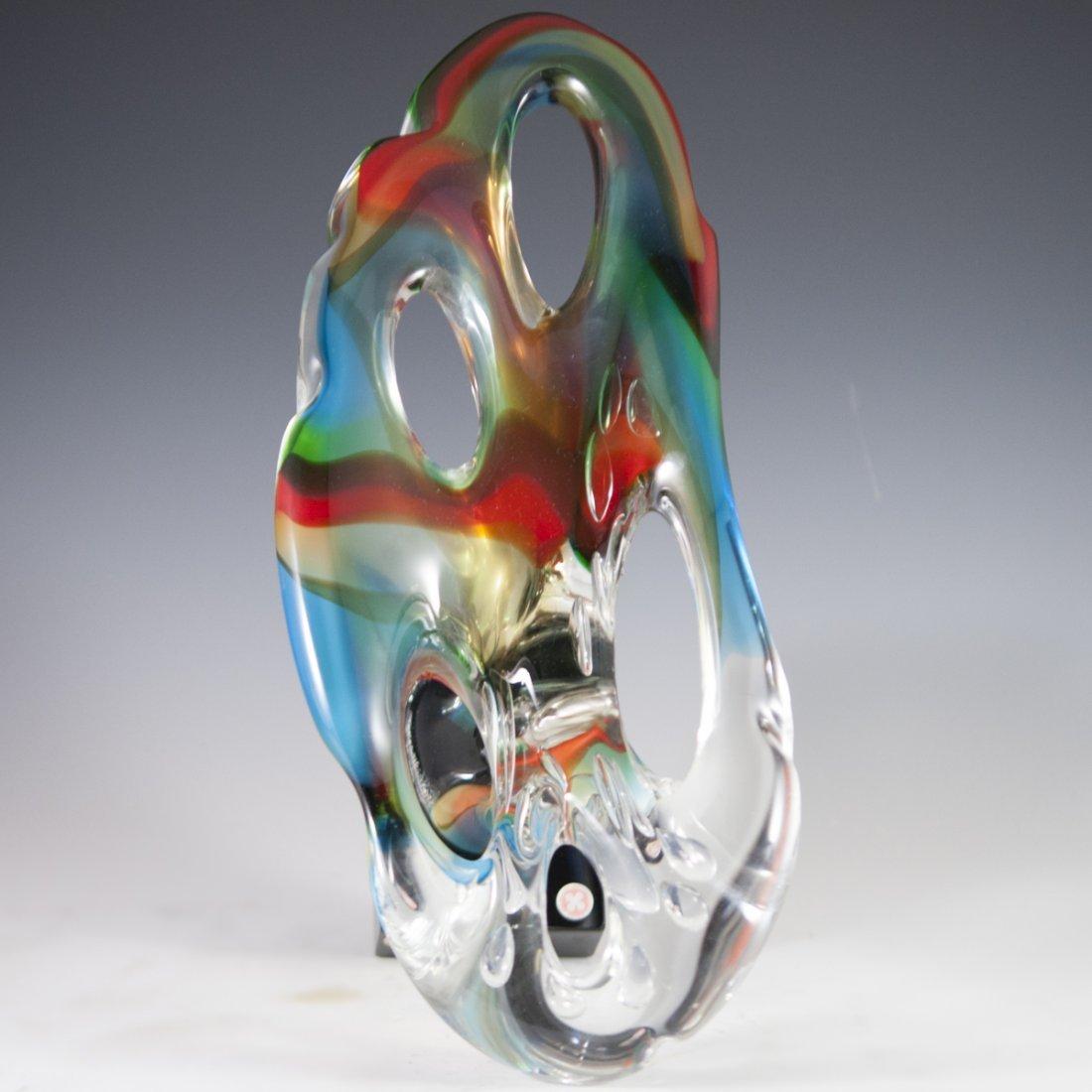 Signed Murano Glass Sculpture - 6