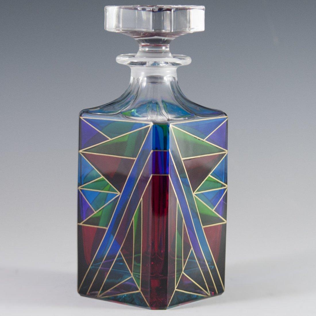 Handpainted Murano Glass Decanter - 2