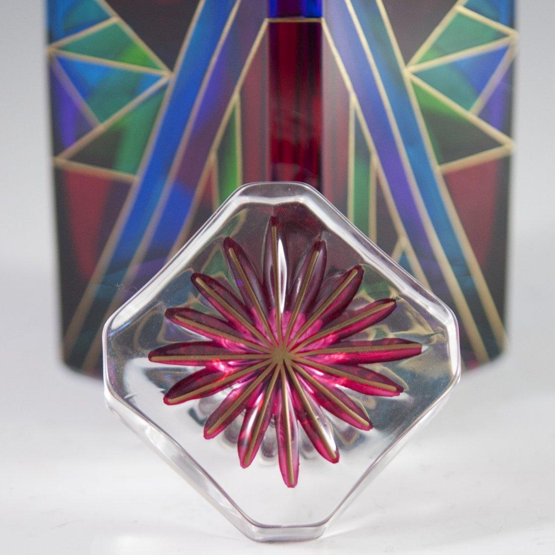 Handpainted Murano Glass Decanter - 3