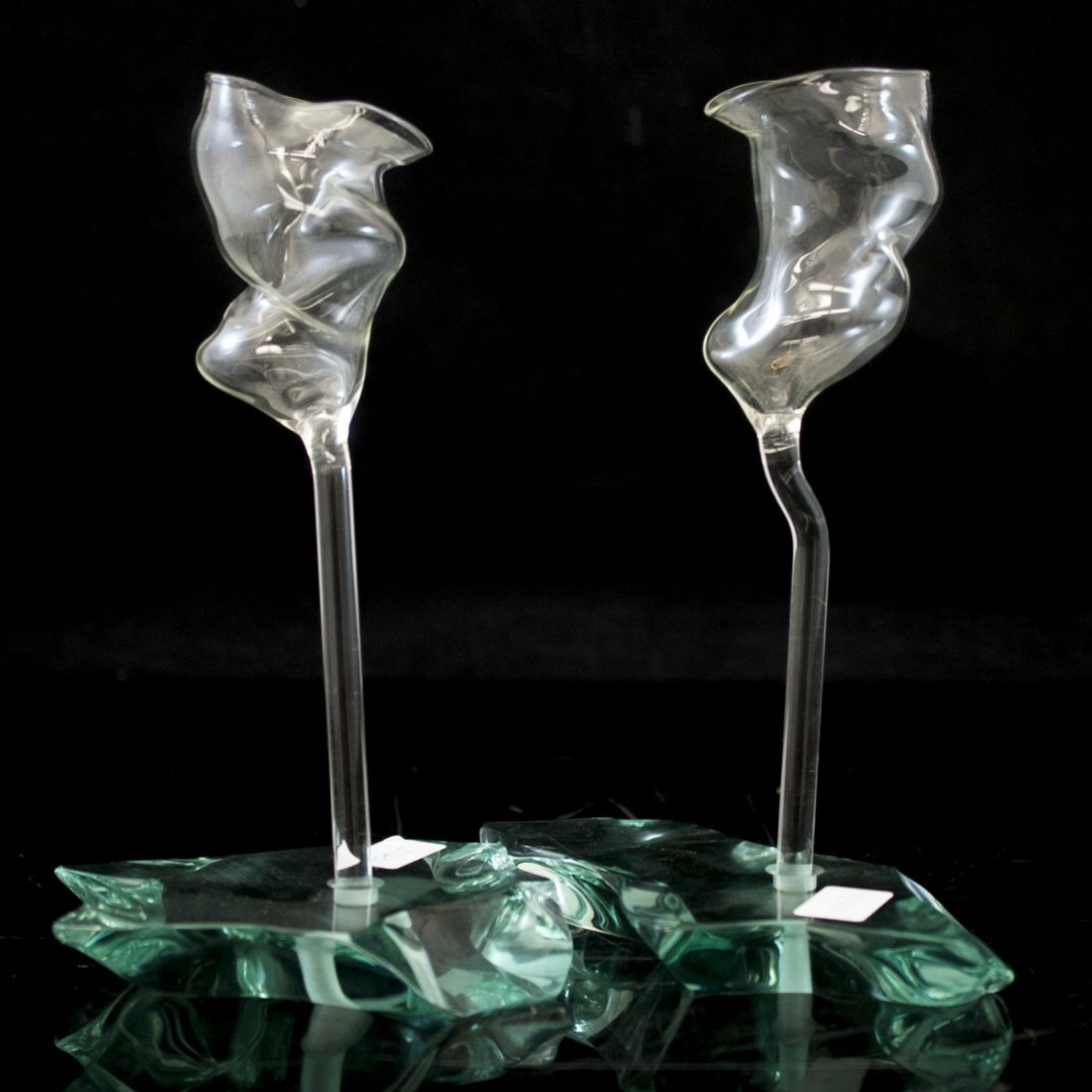 Blown Glass Vases by Danny Lane (British 1955-)