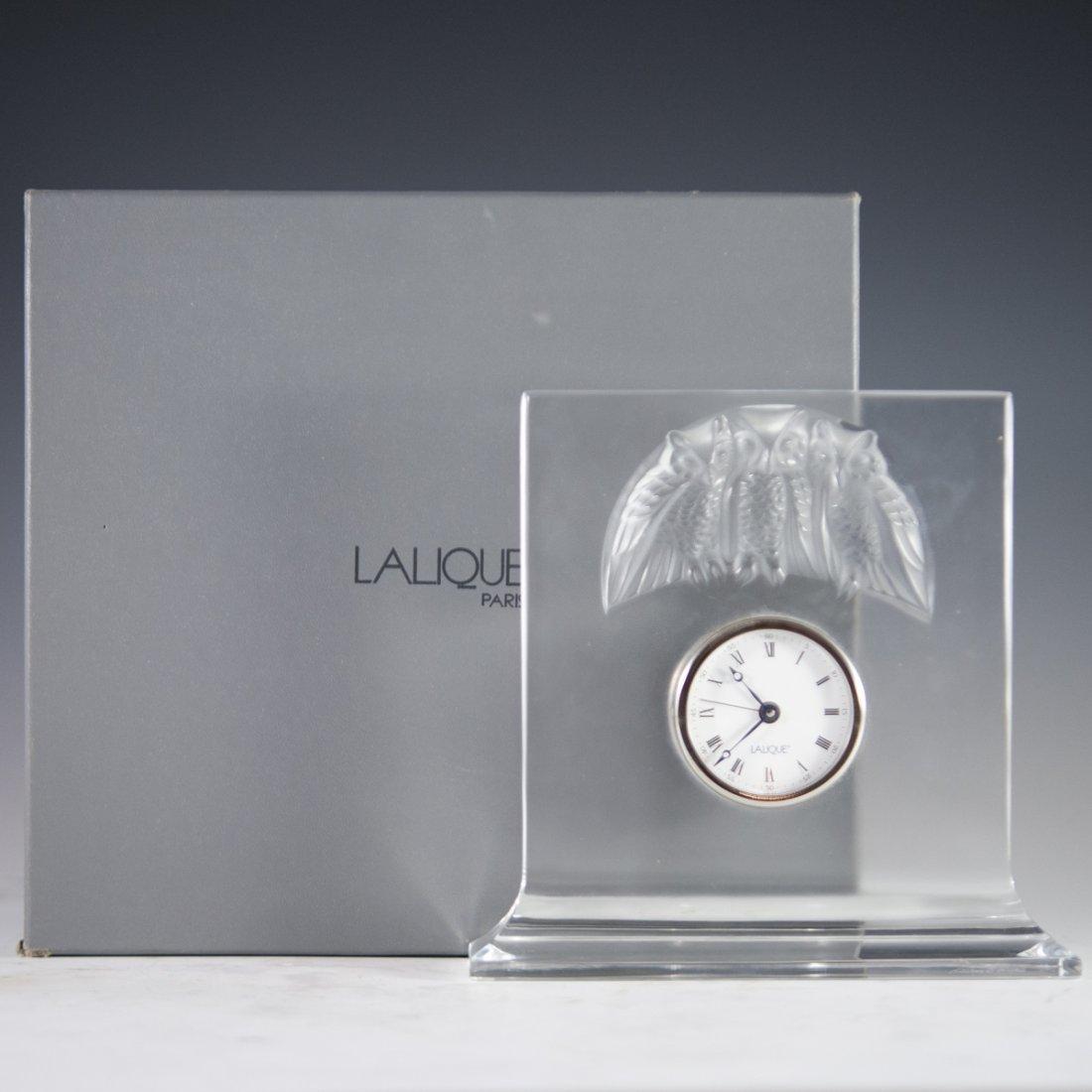 """Lalique """"Hibou"""" Owl Clock"""