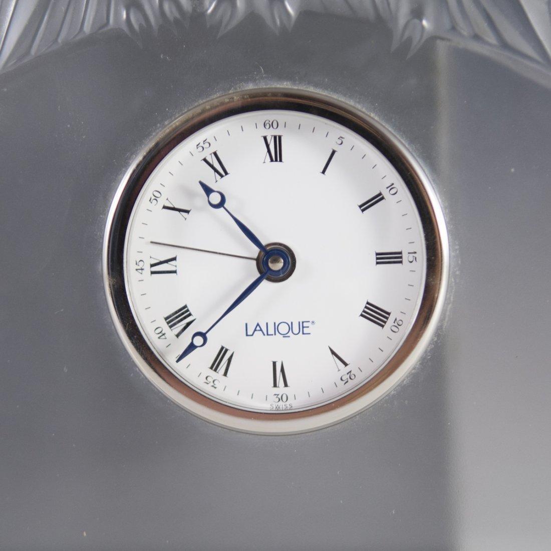 """Lalique """"Hibou"""" Owl Clock - 2"""