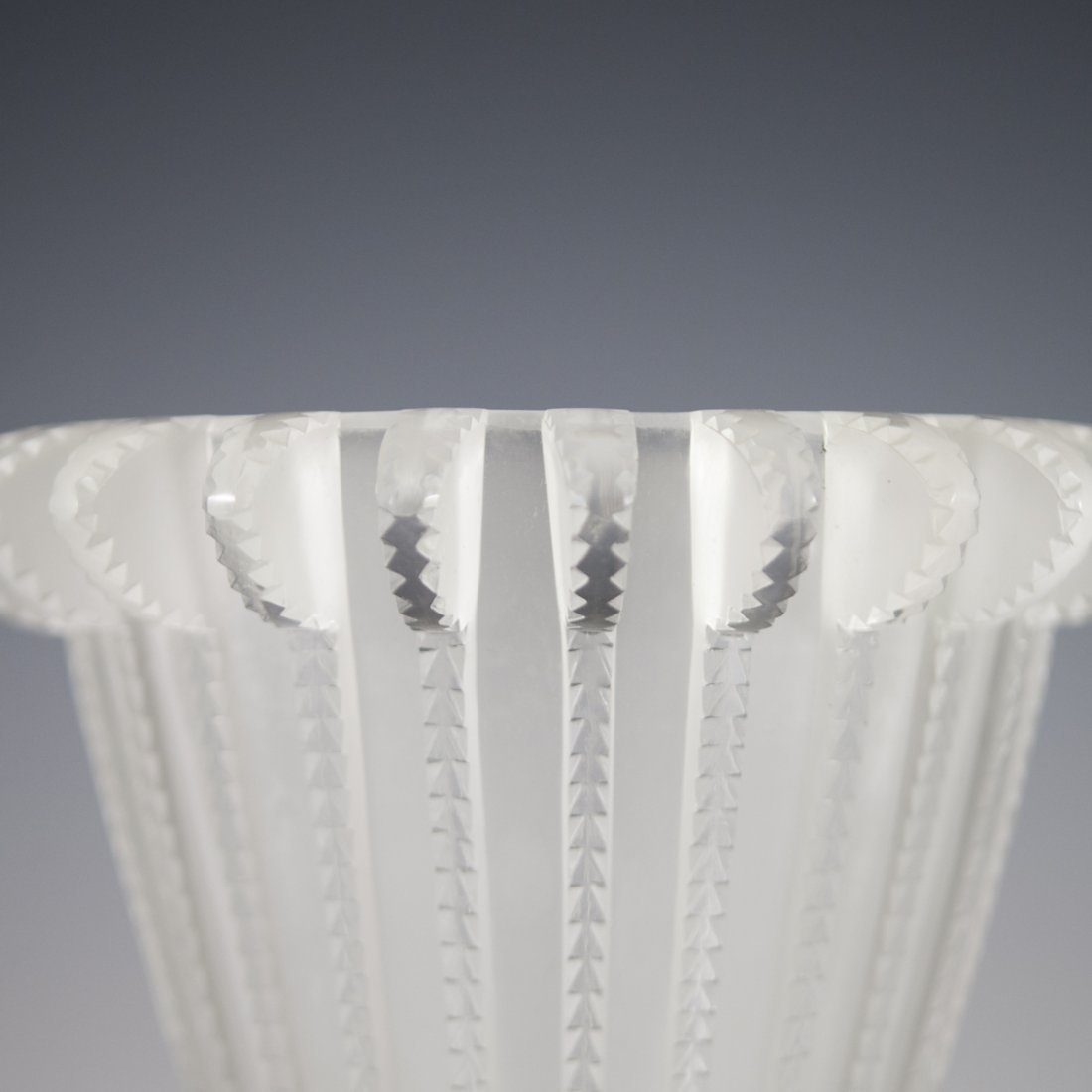 "Lalique Crystal ""Royat"" Vase - 4"