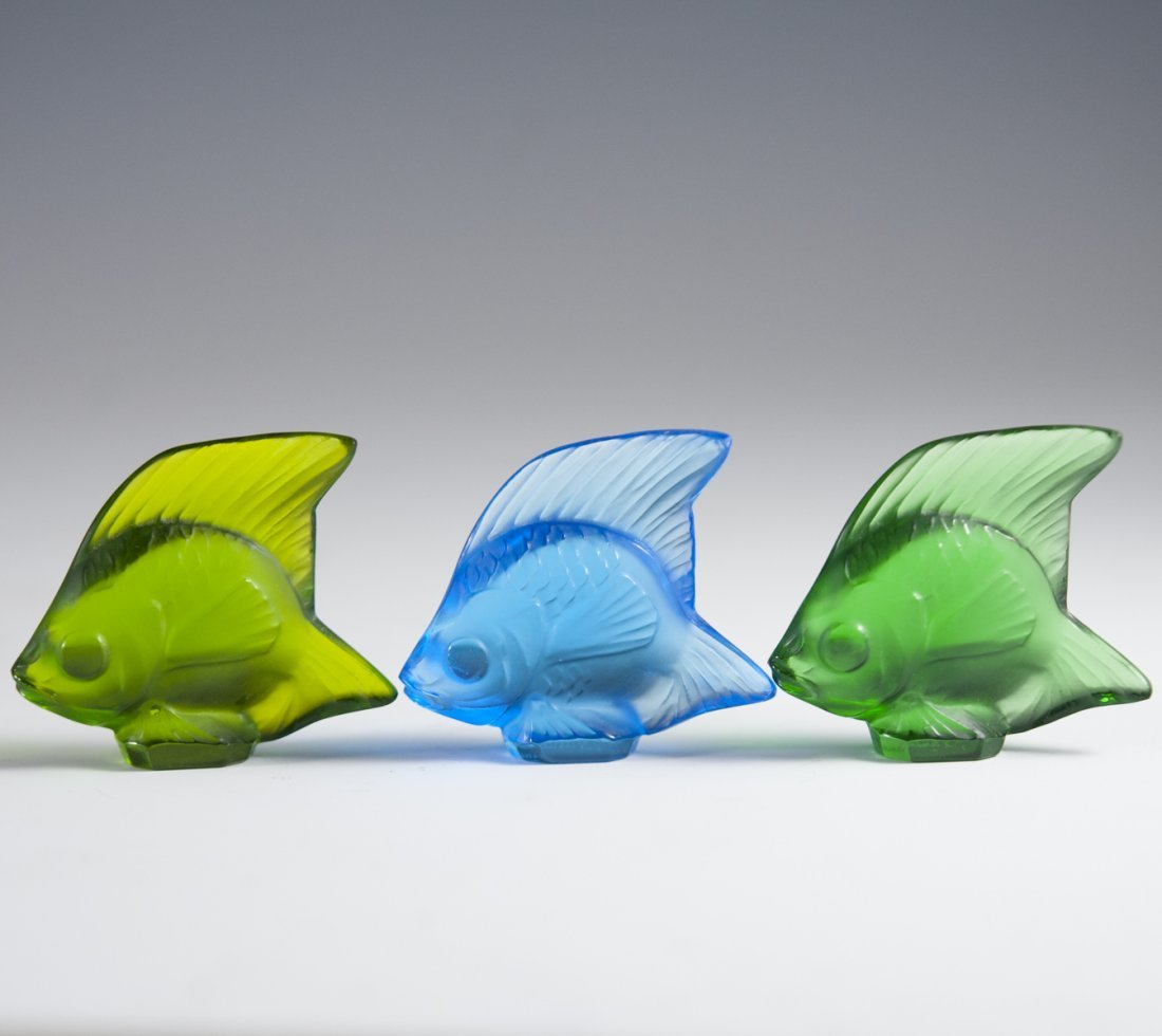 """Lalique Frosted Crystal """"Poissons"""""""