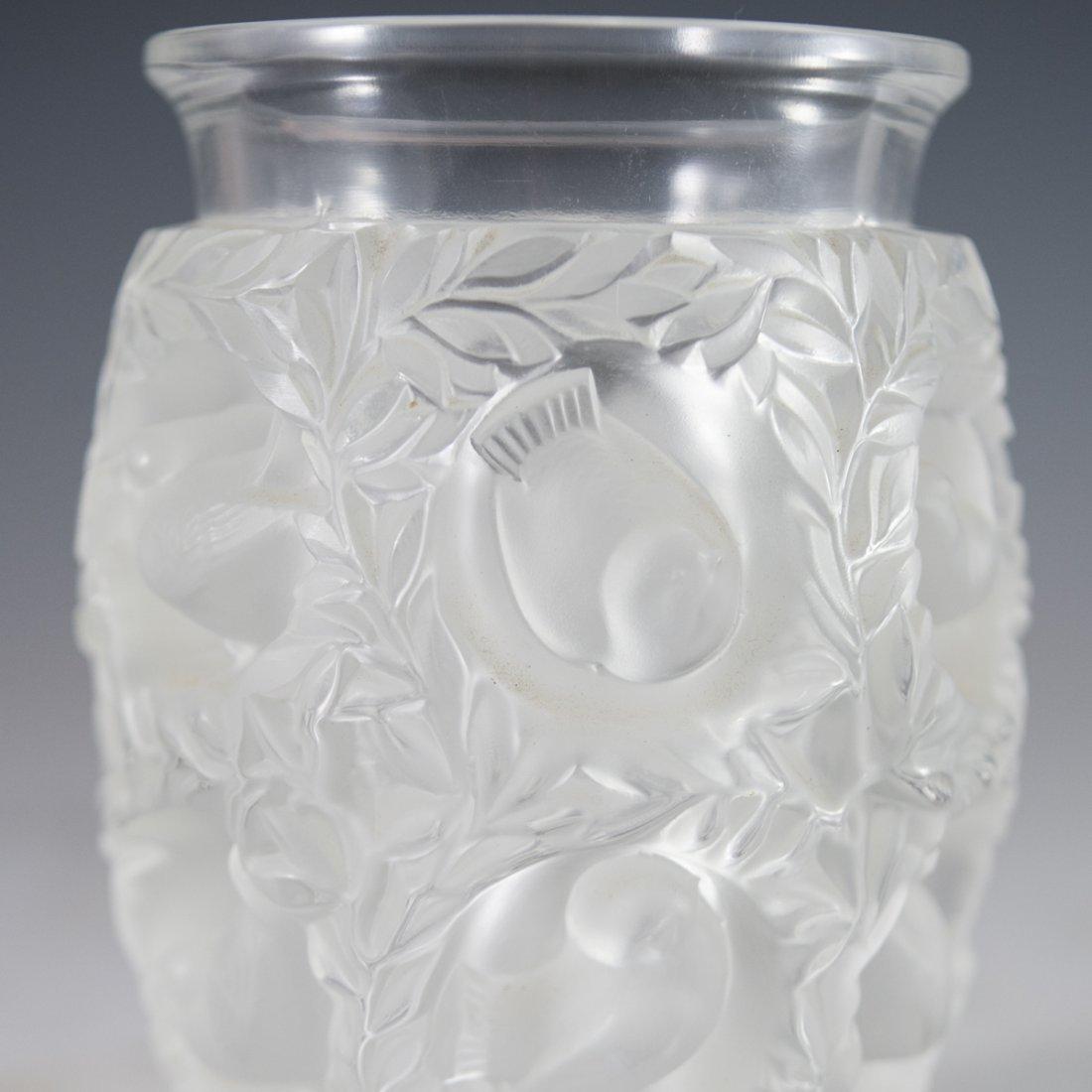 """Lalique """"Bagatelle"""" Crystal Vase - 4"""